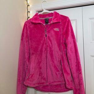 Hot pink The NorthFace fleece zip up jacket